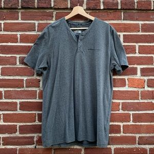 Mens Large Grey Under Armour Button Tee